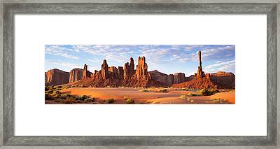Monument Valley Arizona Usa Framed Print by Panoramic Images