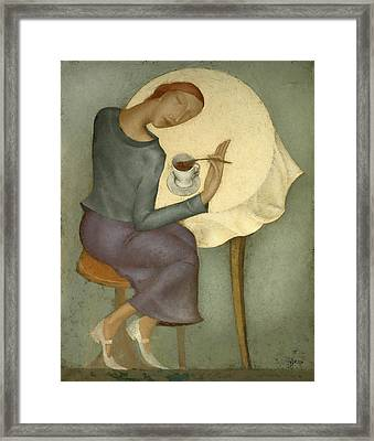 Morning Coffee Framed Print by Nicolay  Reznichenko