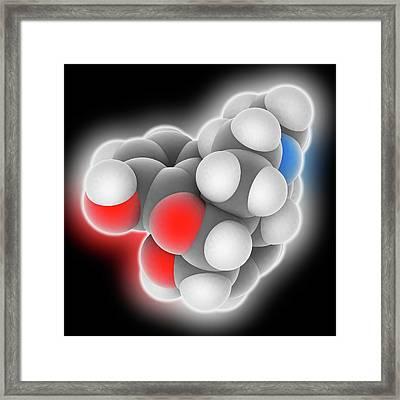 Morphine Drug Molecule Framed Print by Laguna Design