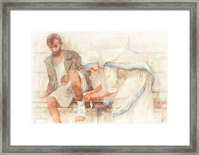 Mother Teresa Framed Print by John Alan  Warford