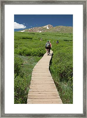 Mount Bierstadt Hiking Trail Framed Print by Jim West
