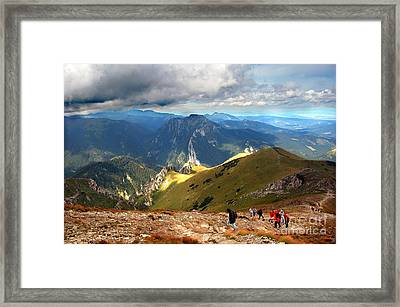 Mountains Stormy Landscape Framed Print by Michal Bednarek