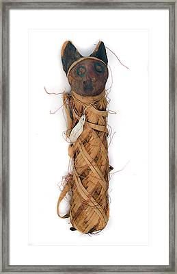 Mummified Cat Framed Print by Natural History Museum, London