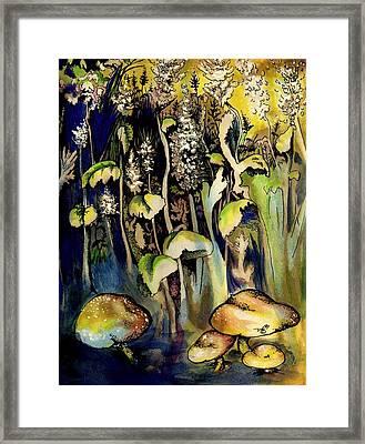 4 Mushrooms Framed Print