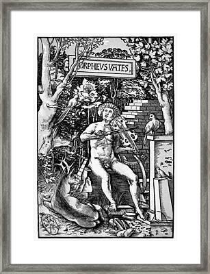 Mythology Orpheus Framed Print by Granger