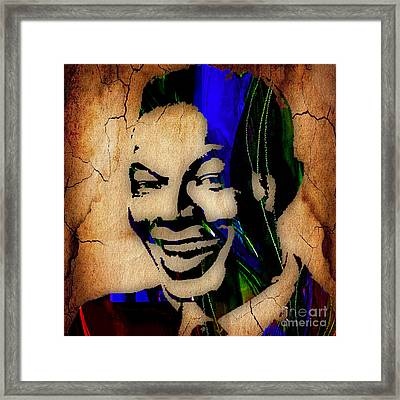 Nat King Cole Collection Framed Print by Marvin Blaine