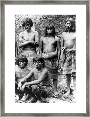 Native Brazilians Framed Print by Granger