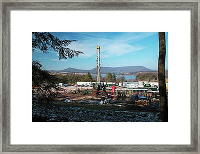 Natural Gas Well Framed Print by Jim West