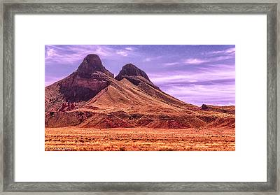 Navajo Nation Series Along 87 And 15 Framed Print by Bob and Nadine Johnston