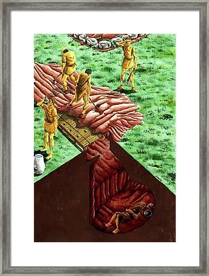 Neolithic Burial Pit Framed Print