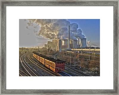 Neurath Power Station Germany Framed Print by David Davies