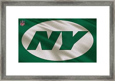 New York Jets Uniform Framed Print