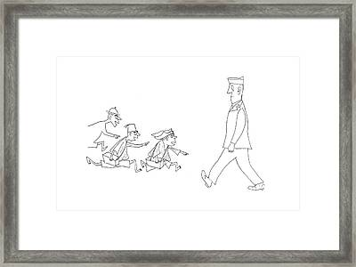 New Yorker April 15th, 1944 Framed Print by Saul Steinberg