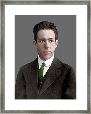 Niels Bohr Framed Print by Library Of Congress