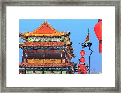 Night Lighting And Glowing Lanterns Framed Print by Stuart Westmorland