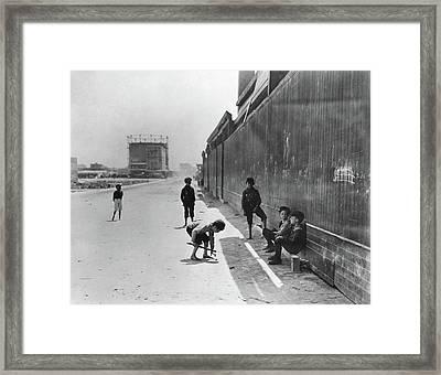 Nyc Tenement Life Framed Print