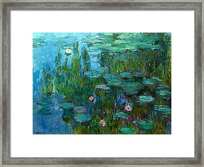 Framed Print featuring the painting Nympheas  by Claude Monet