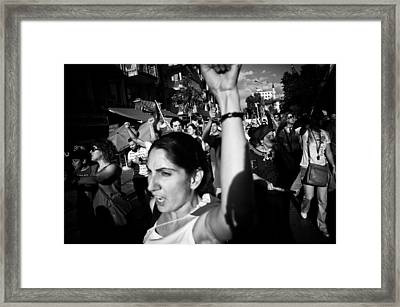 Occupy Gezi - Protests Against Turkish Government Framed Print by Ilker Goksen