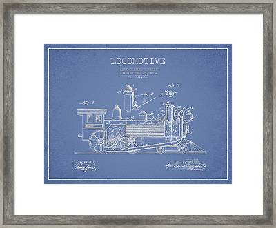 ocomotive Patent drawing from 1894 Framed Print
