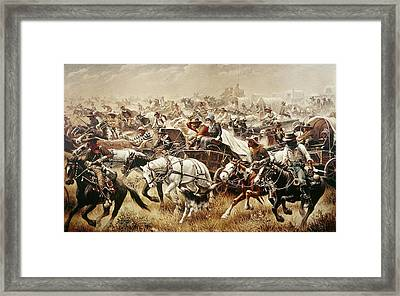 Oklahoma Land Rush, 1889 Framed Print by Granger