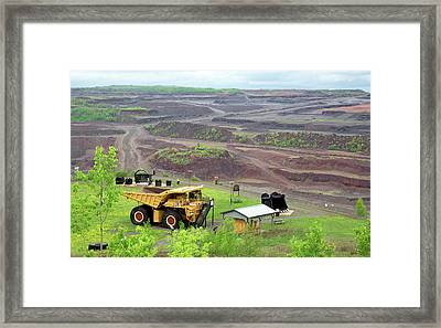 Open Pit Iron Mine Framed Print