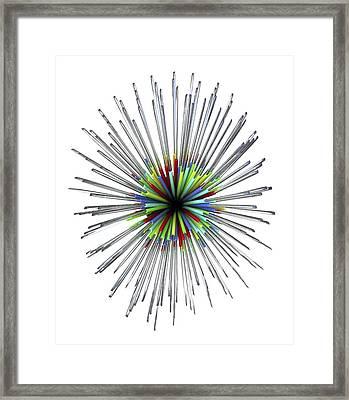 Optical Fibre Cable Framed Print
