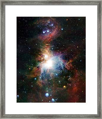 Orion Nebula Framed Print by European Southern Observatory/science Photo Library