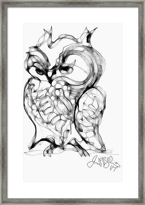 Owl  Framed Print by Jon Baldwin  Art