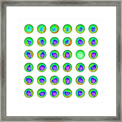Ozone Hole Framed Print