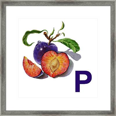P Art Alphabet For Kids Room Framed Print by Irina Sztukowski