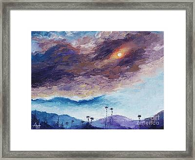 Palm Springs Summer Framed Print
