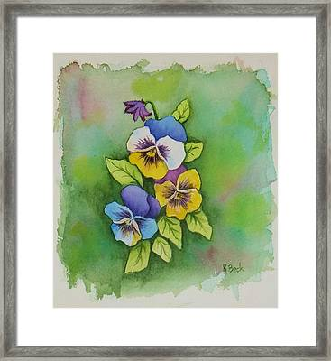 Pansies Framed Print by Katherine Young-Beck