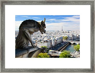 Paris Panorama France Framed Print by Michal Bednarek
