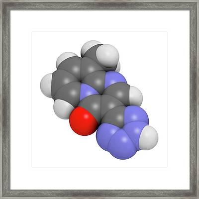 Pemirolast Eye Allergy Drug Molecule Framed Print by Molekuul
