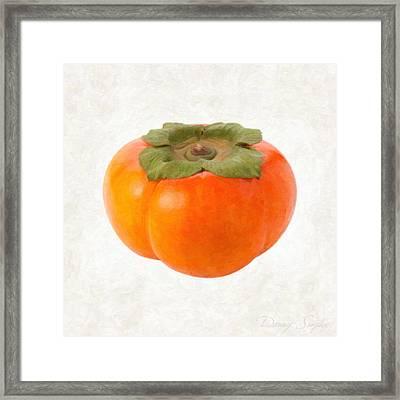 Persimmon Framed Print