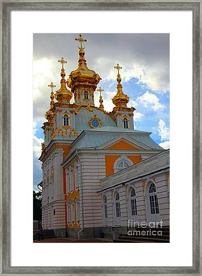 Peterhof Palace Russia Framed Print by Sophie Vigneault