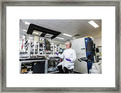 Pharmaceuticals Production Framed Print