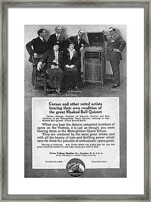 Phonograph, 1914 Framed Print