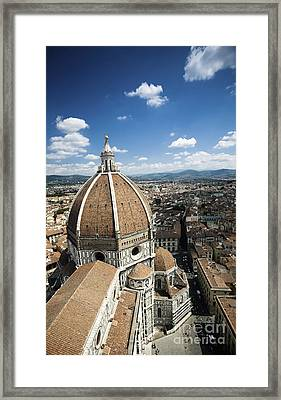 Piazza Del Duomo With Basilica Of Saint Framed Print by Evgeny Kuklev
