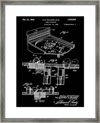 Pinball Machine Patent 1939 - Black Framed Print by Stephen Younts