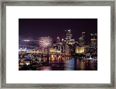 Pittsburgh At Night Framed Print