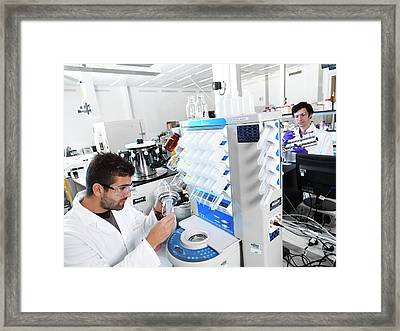 Polypeptide Synthesis Laboratory Framed Print by Andrew Brookes, National Physical Laboratory