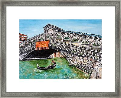 Ponte Di Rialto Framed Print by Loredana Messina