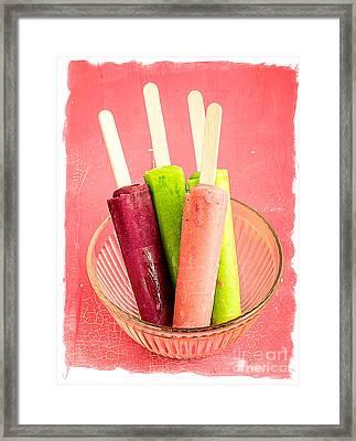 Popsicles Ice Cream Frozen Treat Framed Print