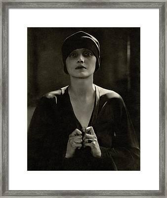 Portrait Of Katharine Cornell Framed Print by Edward Steichen