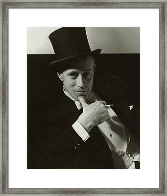 Portrait Of Leslie Howard Framed Print by Edward Steichen