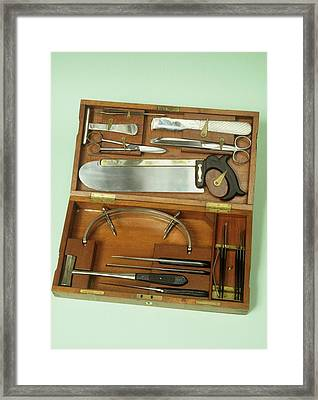 Post-mortem Instruments Framed Print by Science Photo Library