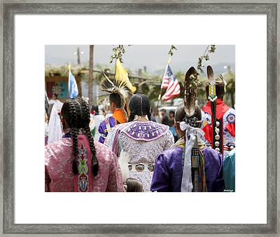 Pow Wow Framed Print by Stellina Giannitsi