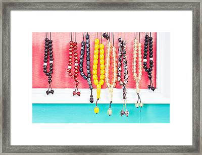 Prayer Beads Framed Print