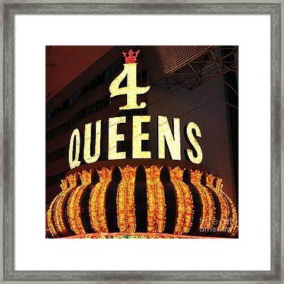 4 Queens Framed Print